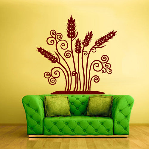 Wall Vinyl Decal Sticker Bedroom Decal Modern Decal Fashion Flowers  z508