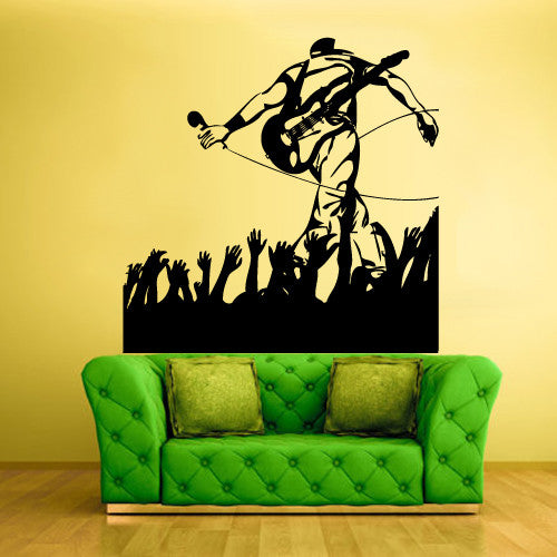 Wall Vinyl Decal Sticker Bedroom Decal Music Man Concert Picture  z516