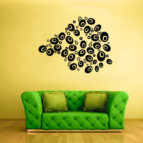 Wall Decal Vinyl Decal Sticker Bedroom Circles Modern Fashion Style Pattern z529