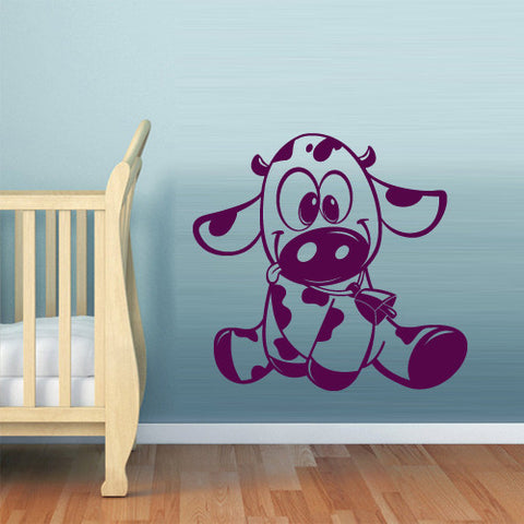 Wall Decal Vinyl Decal Sticker Bedroom Decal Cow Bull Funny Nursery Kids Baby z542