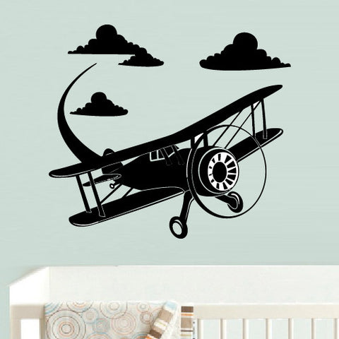 Wall Decal Vinyl Decal Sticker Airplane Plane Aircraft Funny Nursery Kids Baby  z547