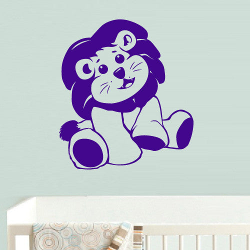 Wall Decal Vinyl Decal Sticker Decal Lion Funny Nursery Kids Baby  z548