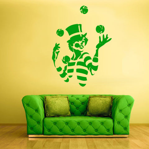 Wall Decal Vinyl Decal Sticker Decal Clown Funnyman Nursery Kids Baby  z550