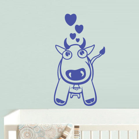 Wall Decal Vinyl Decal Sticker Bedroom Decal Nursery Kids Baby Dog Hearts  z553