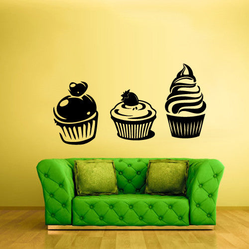 Wall Decal Vinyl Decal Sticker Bedroom Decal Cake Pie Cream Ice Kitchen  z554
