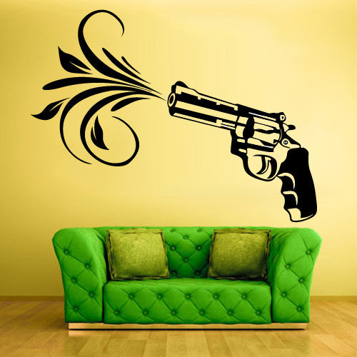 Wall Vinyl Decal Sticker Bedroom Decal Flowers Modern Decal   z558
