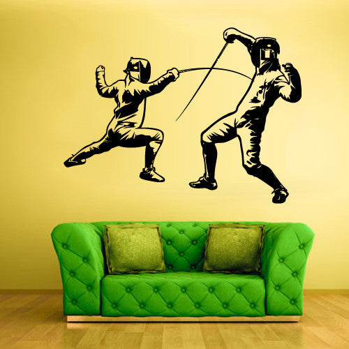 Wall Vinyl Decal Sticker Bedroom Decal Modern Decal Sword Swordplay Fencing  z568