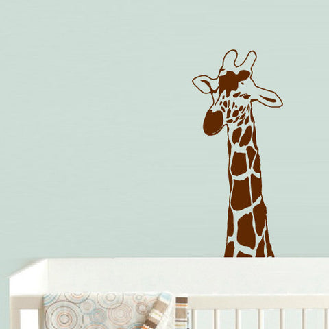 Wall Decal Vinyl Decal Sticker Decal Dog Nursery Kids Baby Giraffe Cartoon  z573