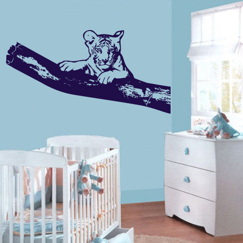 Wall Vinyl Decal Sticker Bedroom Decal Tiger Tree Nursery Kids Baby Room  z580
