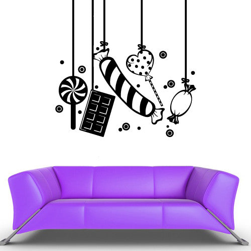 Wall Vinyl Decal Sticker Bedroom Decal Modern Sweets Candy Confection  z583