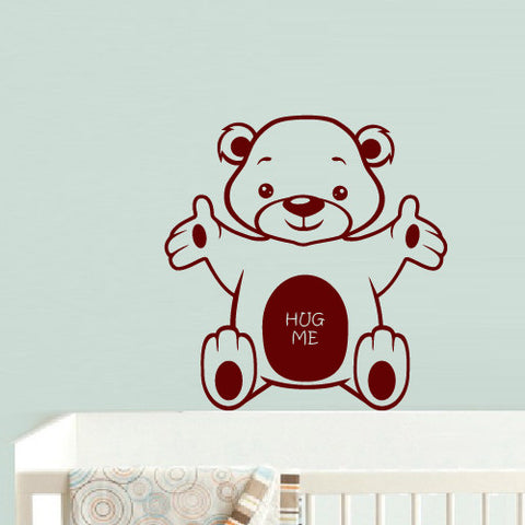Wall Decal Vinyl Decal Sticker Art Bedroom Dog Nursery Kids Baby Bear Cartoon  z592