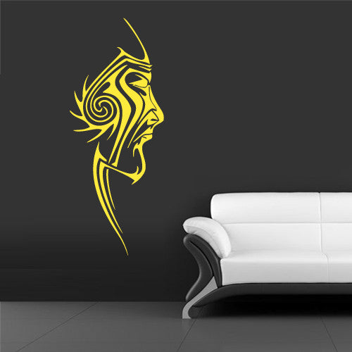 Wall Vinyl Decal Sticker Bedroom Decal Symbols Tribal Face  z632