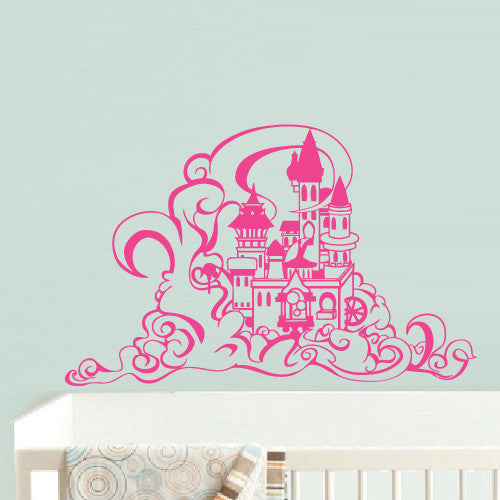 Wall Vinyl Decal Sticker Bedroom Decal Nursery Kids Baby Castle Princess Magic z634