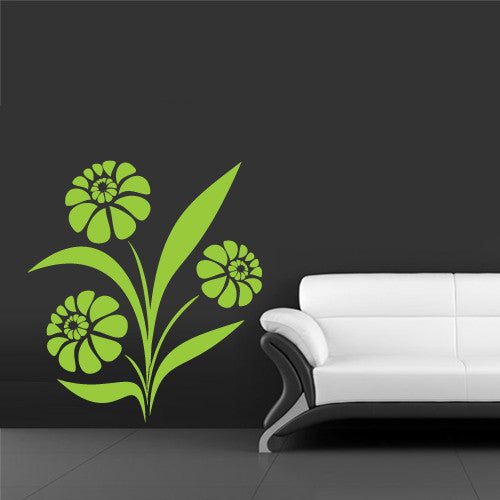 Wall Vinyl Decal Sticker Bedroom Decal Modern Flowers Decal Fashion Flowers  z635