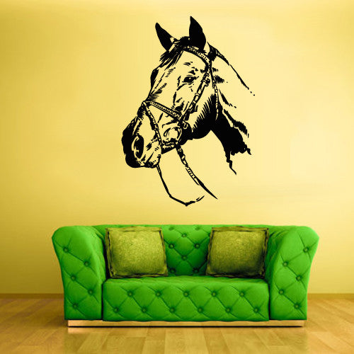 Wall Vinyl Decal Sticker Bedroom Decal Horse Equine Nag Head  z640