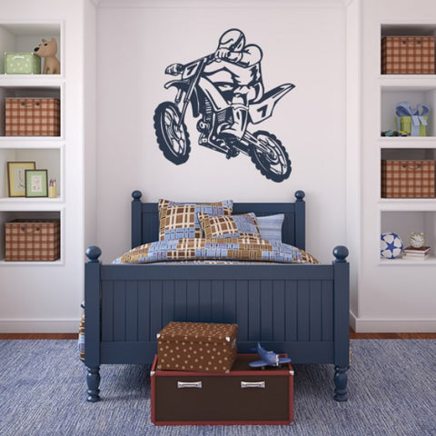 Wall Vinyl Decal Sticker Dirt Dirty Motocross Motorcycle Moto Gp Bike Motorbike z641
