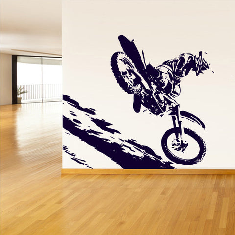 Wall Vinyl Decal Sticker Bedroom Decal Motocross Bike Dirty Moto Bike Gp Sport z759