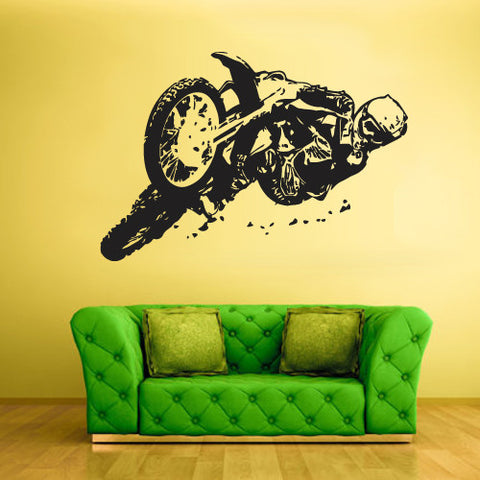 Wall Vinyl Decal Sticker Bedroom Motorcycle Moto Bike Gp Dirty Motocross  z805