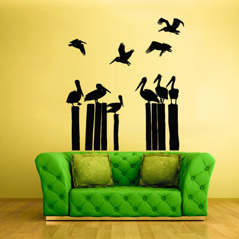 Wall Decal Vinyl Decal Sticker Animal Bedroom Pelican Bird Sea Ocean  z852