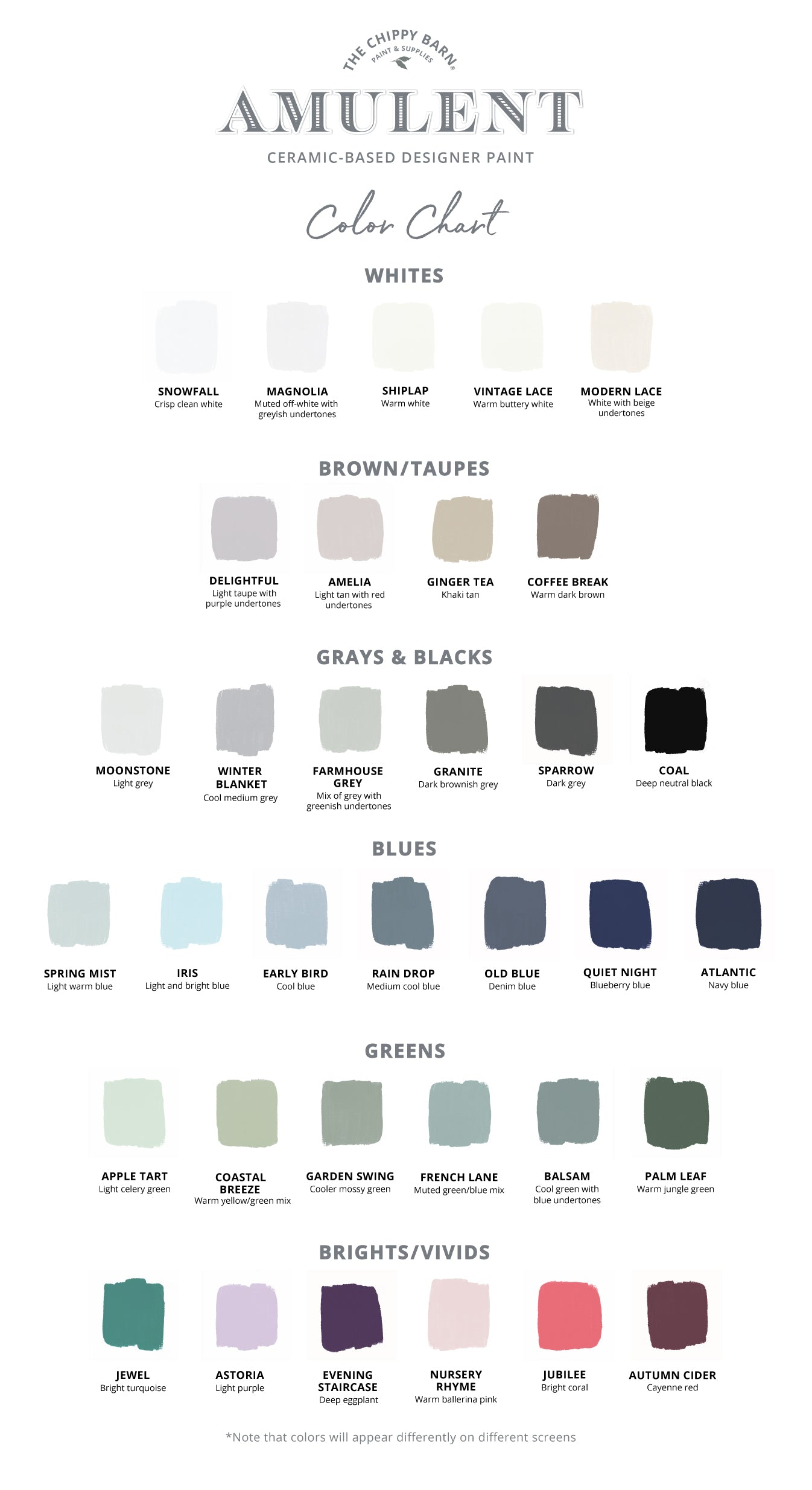 The Chippy Barn | Color Card