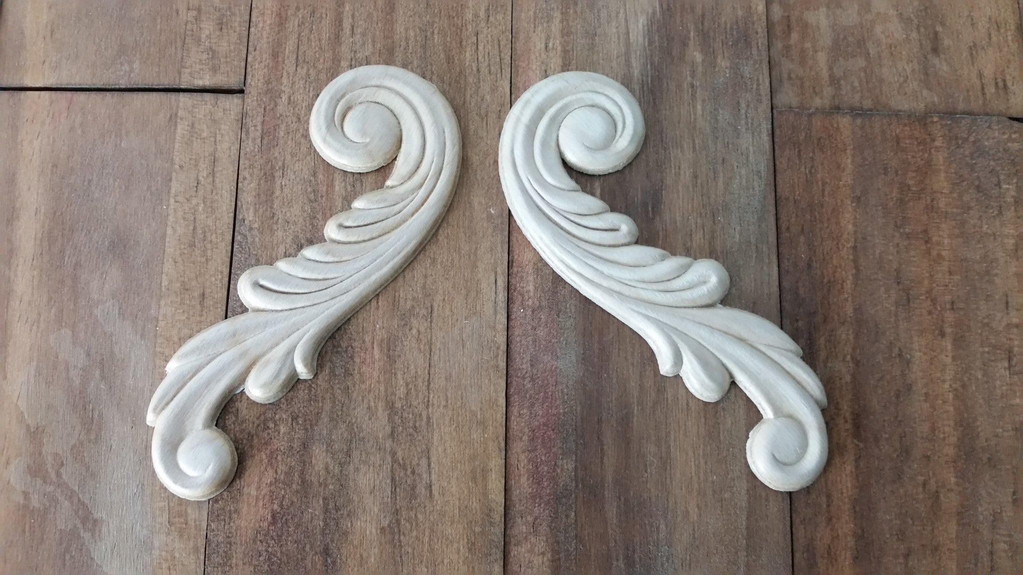 Scroll Wings Applique (Set of 2) - The Chippy Barn