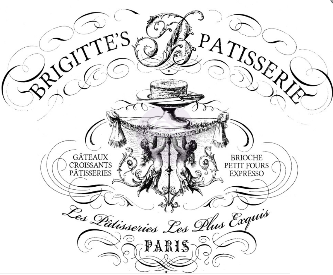 IOD- Decor Transfer - BRIGITTE'S  PATISSERIE - WIDE - The Chippy Barn