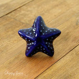 Blue Ceramic Starfish Knob - The Chippy Barn