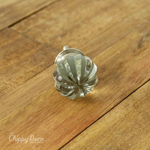 Clear Beveled Knob - The Chippy Barn