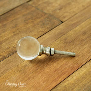 Clear Round Glass Knob - The Chippy Barn
