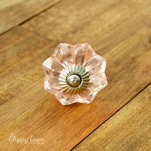 Pink Glass Flower Knob - The Chippy Barn