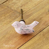 Pink Cast Iron Bird Knob - The Chippy Barn