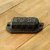 Cast Iron Rectangle Flourish Pull - The Chippy Barn