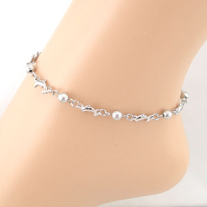 Dolphin Beads Anklet