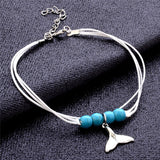 Whale Tail Rope Anklet