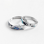 Couples Love Birds & Ocean Wave Ring for Men & Women