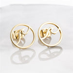 Ocean Wave Stud Earrings