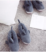 Unisex Fuzzy Soft Shark Slippers