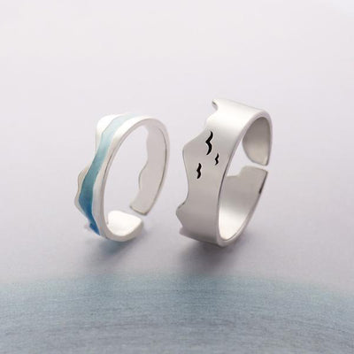 Ends of the Earth Wave Art Ring