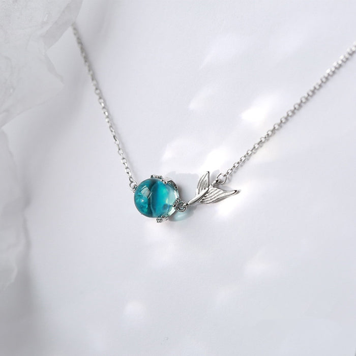 MERMAID'S TAIL & TEAR BLUE PENDANT BRACELET