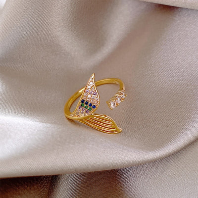 Gold color Mermaid Tail Ring