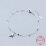 Sterling Silver Starfish Charm Anklet