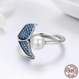 Blue Mermaid's Tail Ring