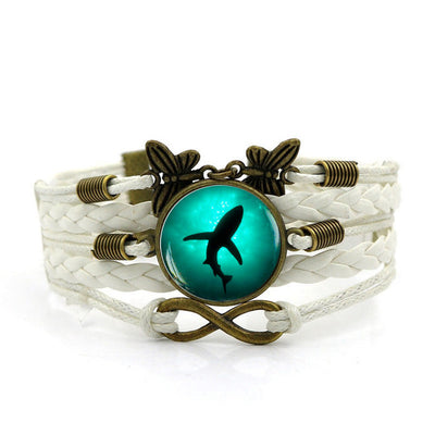 Multilayer Leather Braided Shark Bracelet