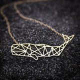 Geometric Sperm Whale Necklace