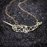 Geometric Narwhal Necklace