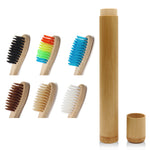 NATURAL BAMBOO TOOTHBRUSH RAINBOW COLORFUL ECO-FRIENDLY