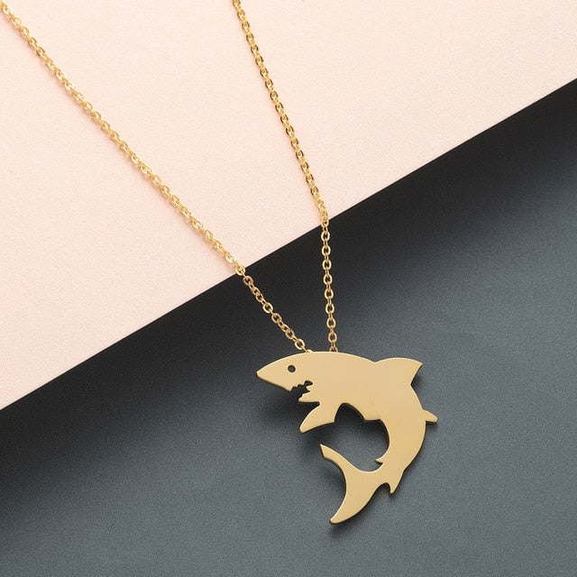 Great White Shark Pendant Necklace