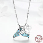 Blue Mermaid's Tail Necklace