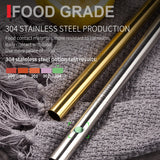 Reusable Metal Drinking Straws Stainless Steel