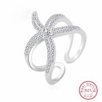 Sterling Silver Starfish With Shiny White Crystals